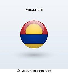 Palmyra Atoll round flag. Vector illustration. - Palmyra...