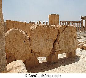 Palmyra is an oasis in desert