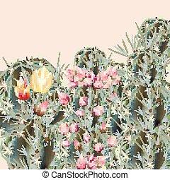 palnts, moda, illustrazione, cactus, vettore