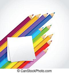 palo, colori, illustrazione, disegno