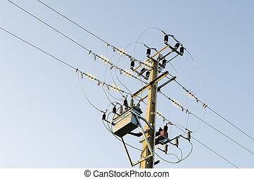 palo de electricidad
