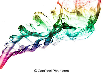 palo de incienso, humo, rastro