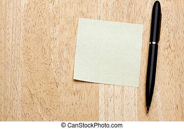 palo, note, cuscinetto, esso, penna