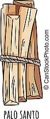 Palo Santo holy wood tree aroma sticks from Latin America. ...