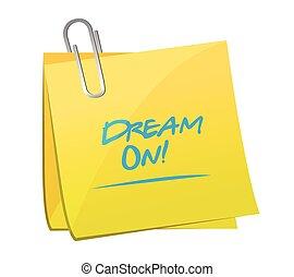 palo, sogno, messaggio, illustrazione