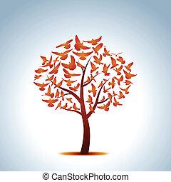 paloma, árbol