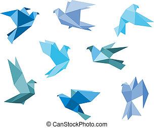 palomas, papel, palomas