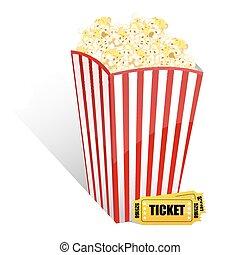 palomitas, película, boletos