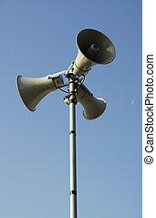 paloud speaker - Public address system.