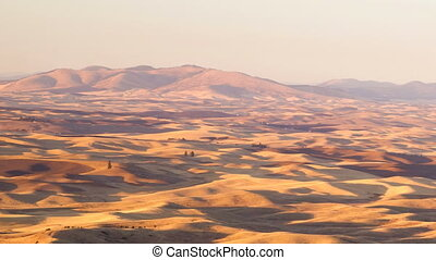 Palouse Region Eastern Washington Farmland Rolling Hills...
