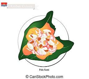Palu Sami or Kiribati Meat and Coconut in Taro Leaf