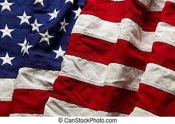 pamiątkowa bandera, dzień, amerykanka, 4, tło, lipiec, albo