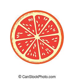 pamplemousse, fruit, citrus