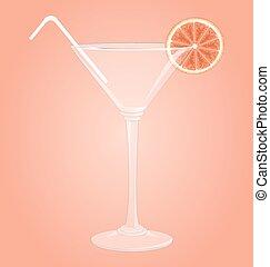 pamplemousse, verre martini