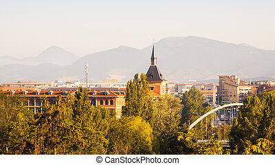 Pamplona in sunny morning