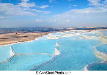Pamukkale travertine pools - Natural travertine pools and...