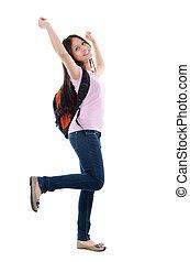 Pan Asian teen student