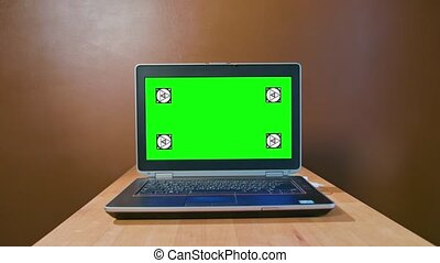Pan Camera to the Laptop with Green Screen