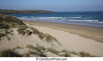 PAN Cornwall beach Crantock uk - Crantock bay and beach ...