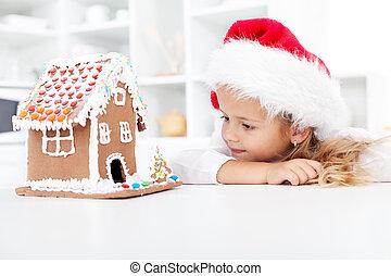 pan de jengibre, mi, galleta navidad, casa