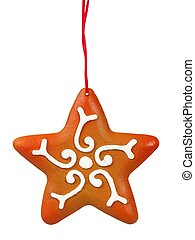 pan de jengibre, navidad, estrella