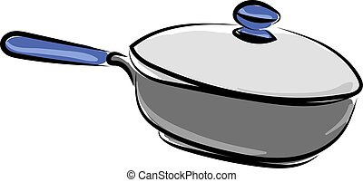 Pan for cooking, illustration, vector on white background.