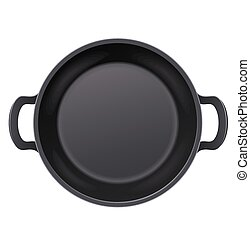 Pan for frying food. Cooking meal.