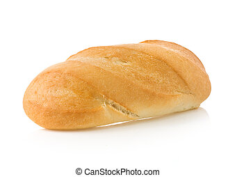 pan francés, aislado, blanco