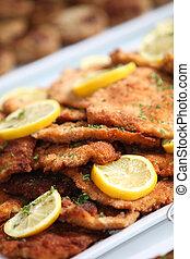 Pan fried fish and lemon