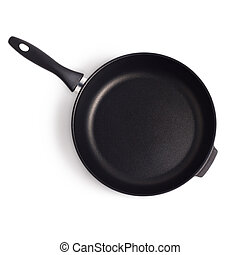pan frying isolated on white background