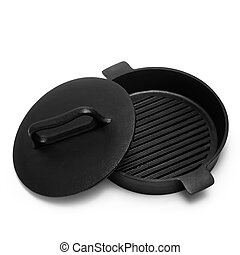 pan grill isolated on white background