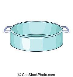 Pan icon, cartoon style
