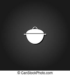 Pan icon flat.