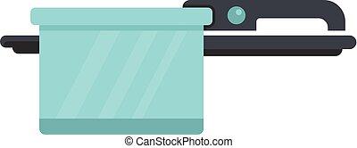 Pan icon, flat style