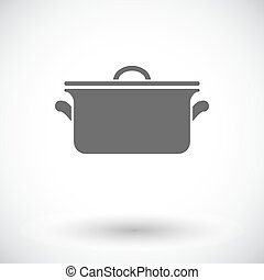 Pan icon - Pan. Single flat icon on white background. Vector...