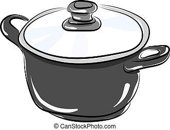 Pan, illustration, vector on white background.