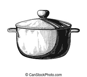 Pan isolated on white background. Vector illustration