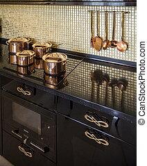pan on an electric stove