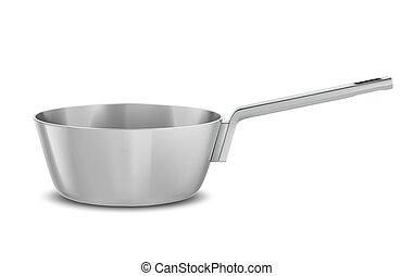 pan - pot with  handle on white background