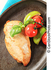 Pan seared chicken breast
