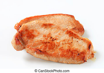 Pan seared pork cutlets
