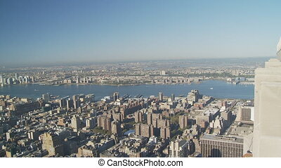 pan shot from empire state over manhattan part I