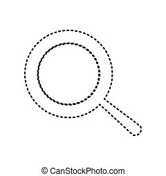 Pan sign. Vector. Black dashed icon on white background. Isolated.