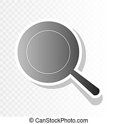 Pan sign. Vector. New year blackish icon on transparent background with transition.