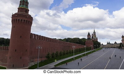 Pan time lapse of Moscow Kremlin and the Red square