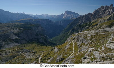 pan valley - A pan from the valley to the mountain refuge...