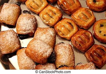 panadería, panadería, pastel danés, pastel