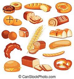 panadería, producto, alimento, colección