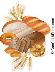 panadería, productos, bread