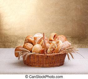 panadería, productos, variado